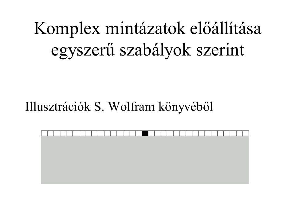 Komplex mintázatok előállítása egyszerű szabályok szerint