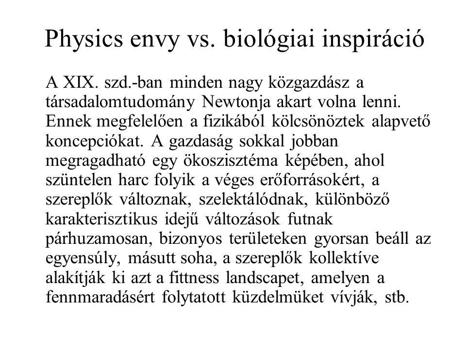 Physics envy vs. biológiai inspiráció