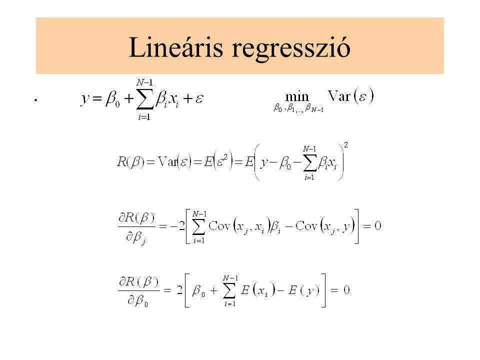 Lineáris regresszió .