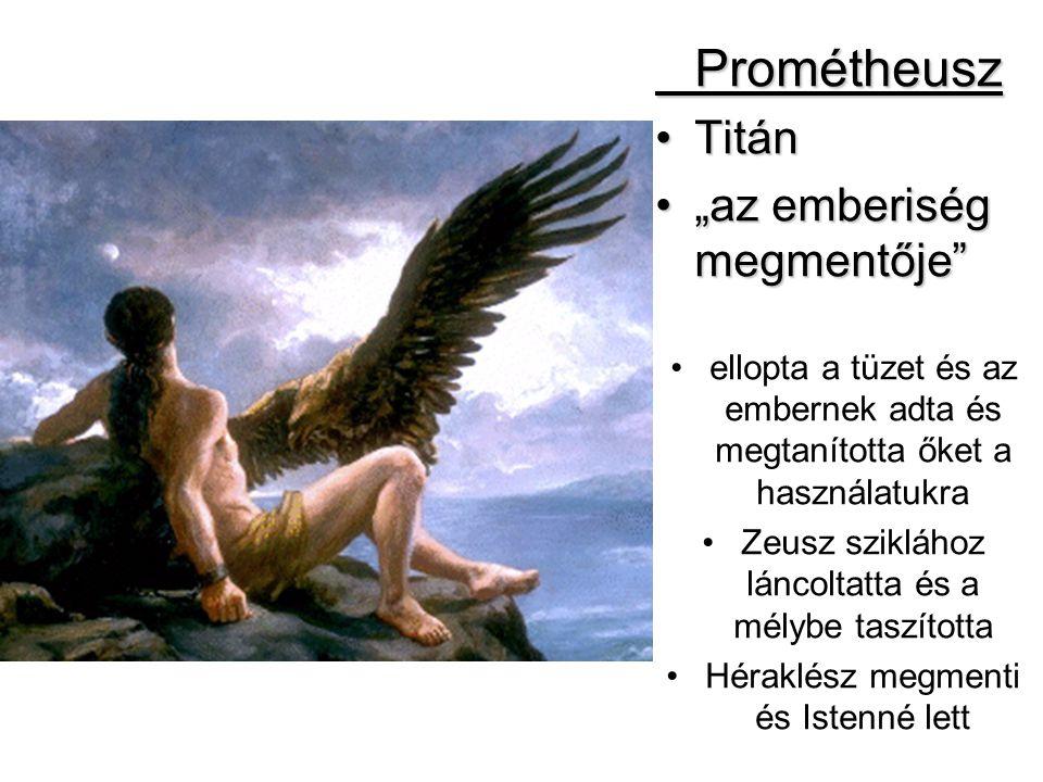 """Prométheusz Titán """"az emberiség megmentője"""