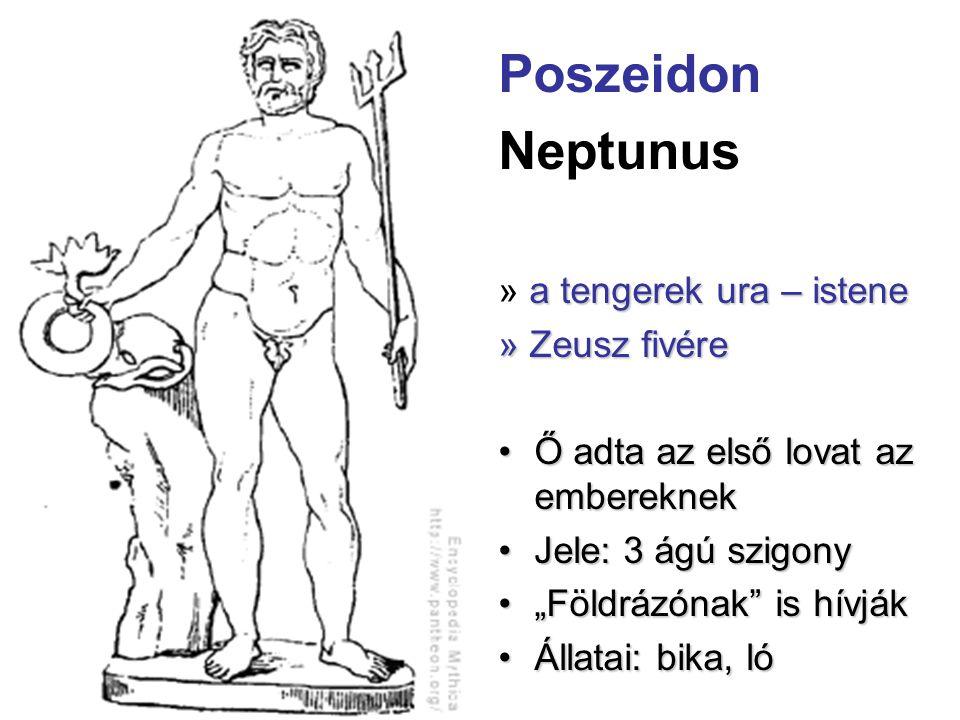Poszeidon Neptunus » a tengerek ura – istene » Zeusz fivére