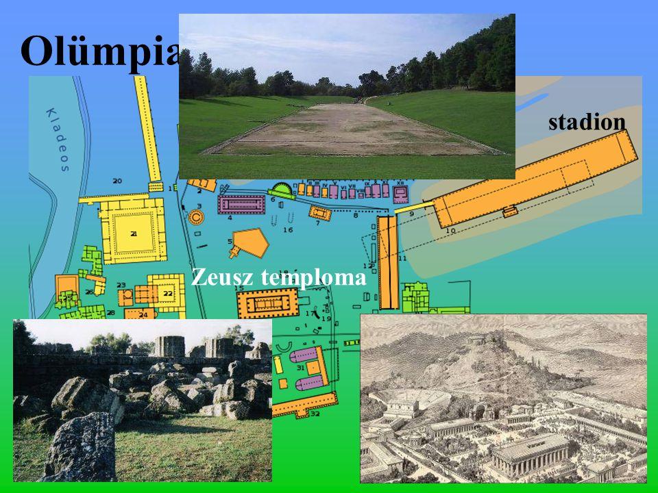 Olümpia stadion Zeusz temploma