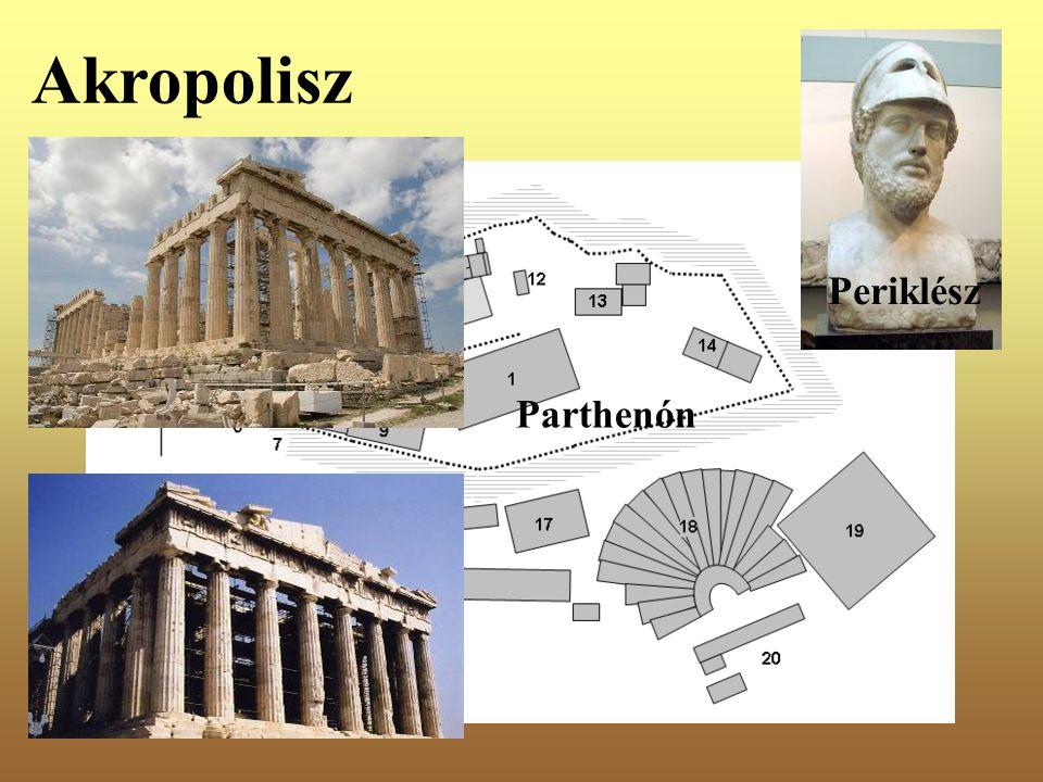 Akropolisz Periklész Parthenón
