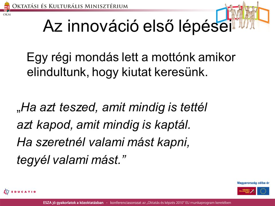 Az innováció első lépései