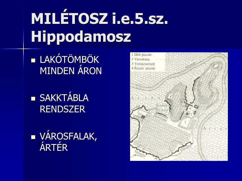 MILÉTOSZ i.e.5.sz. Hippodamosz
