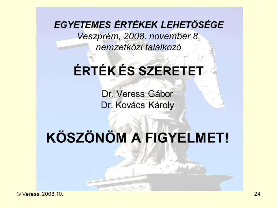 Dr. Veress Gábor Dr. Kovács Károly KÖSZÖNÖM A FIGYELMET!