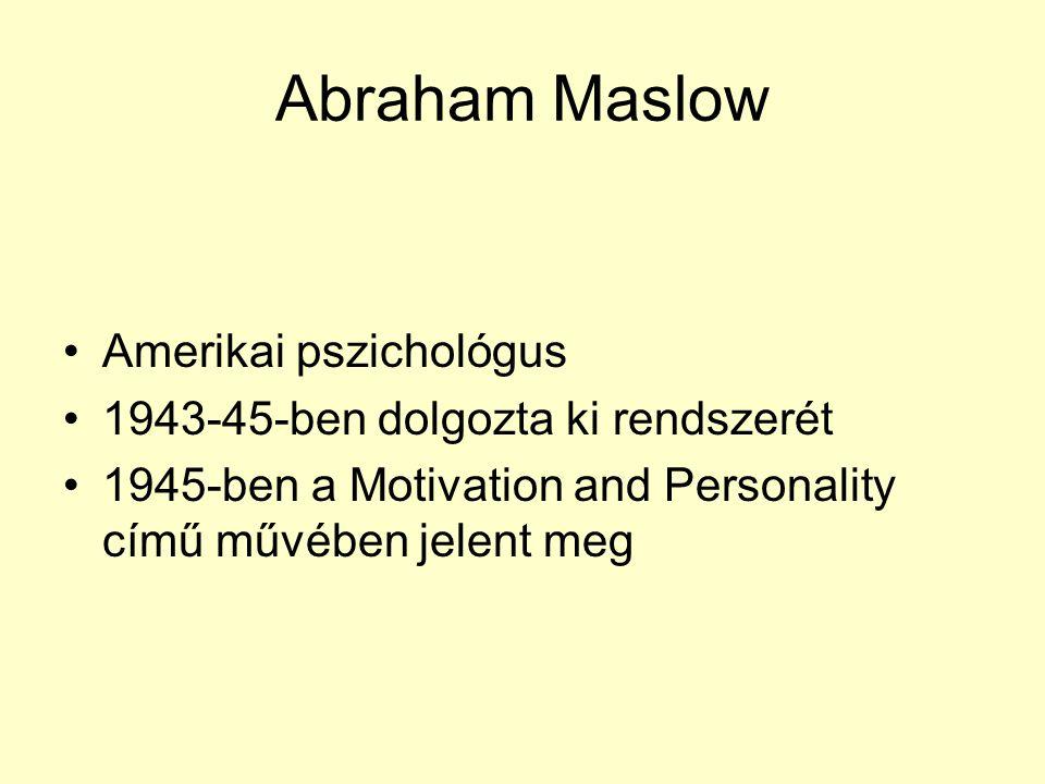 Abraham Maslow Amerikai pszichológus