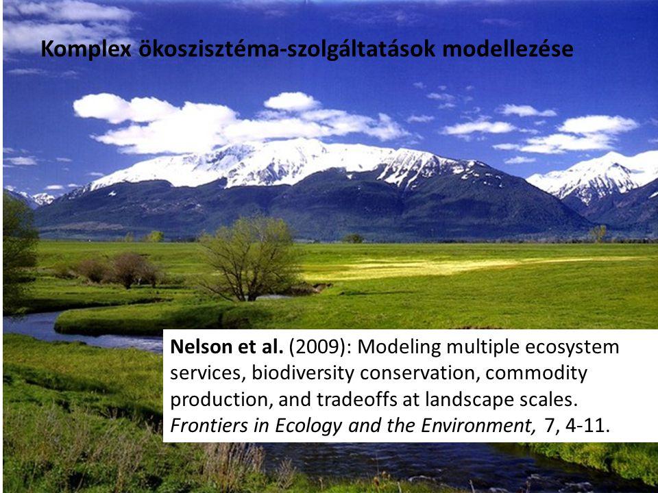 Komplex ökoszisztéma-szolgáltatások modellezése