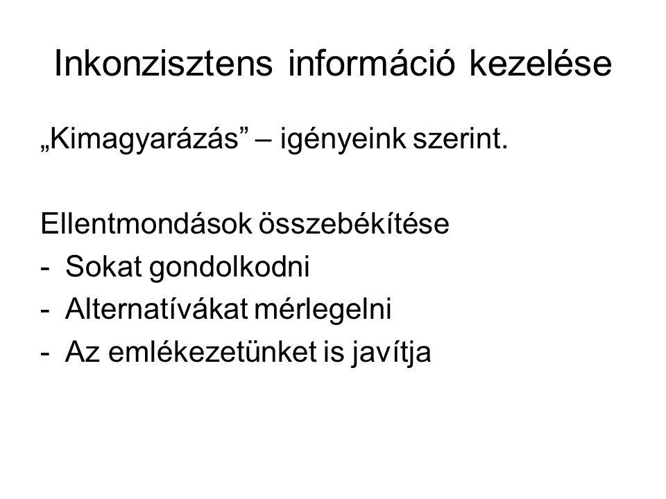 Inkonzisztens információ kezelése