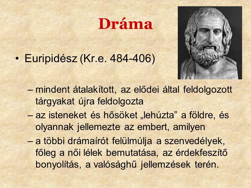 Dráma Euripidész (Kr.e. 484-406)