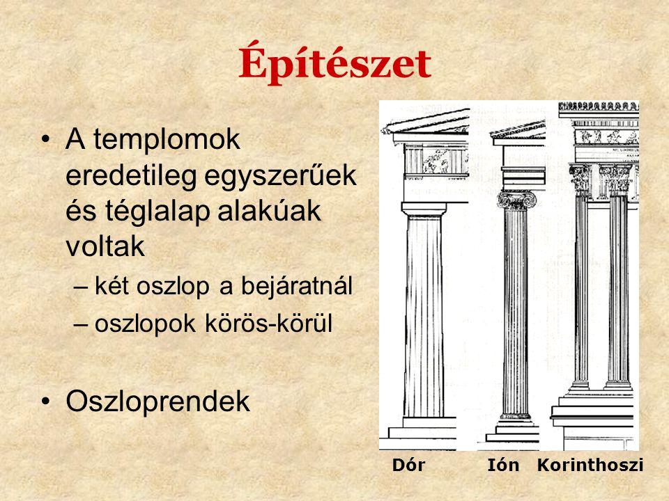 Építészet A templomok eredetileg egyszerűek és téglalap alakúak voltak