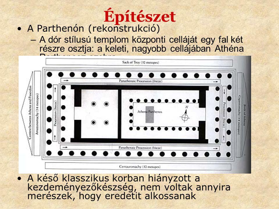 Építészet A Parthenón (rekonstrukció)