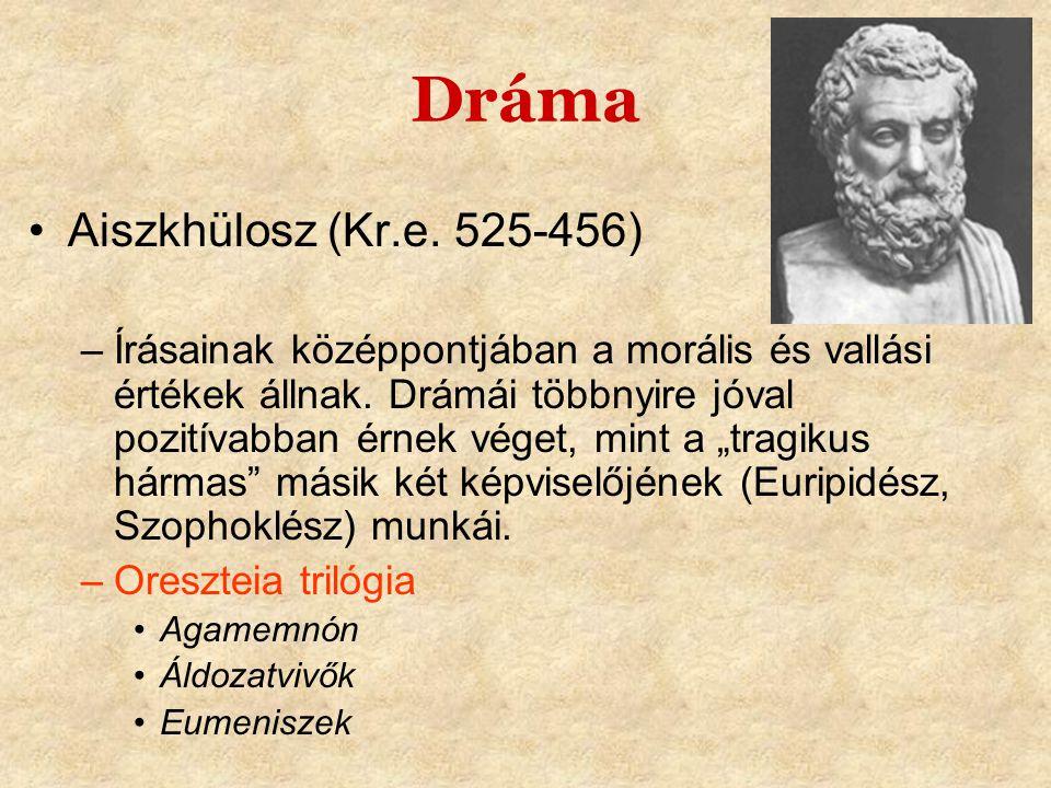 Dráma Aiszkhülosz (Kr.e. 525-456)