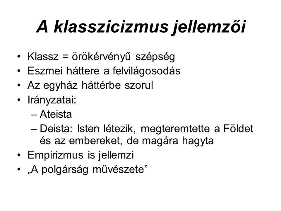 A klasszicizmus jellemzői