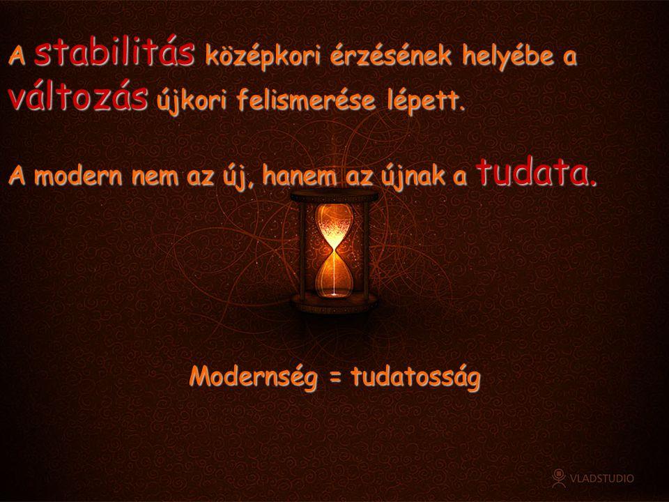 Modernség = tudatosság
