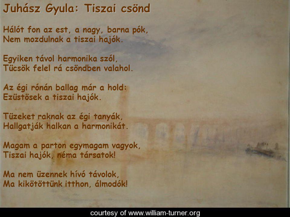 Juhász Gyula: Tiszai csönd