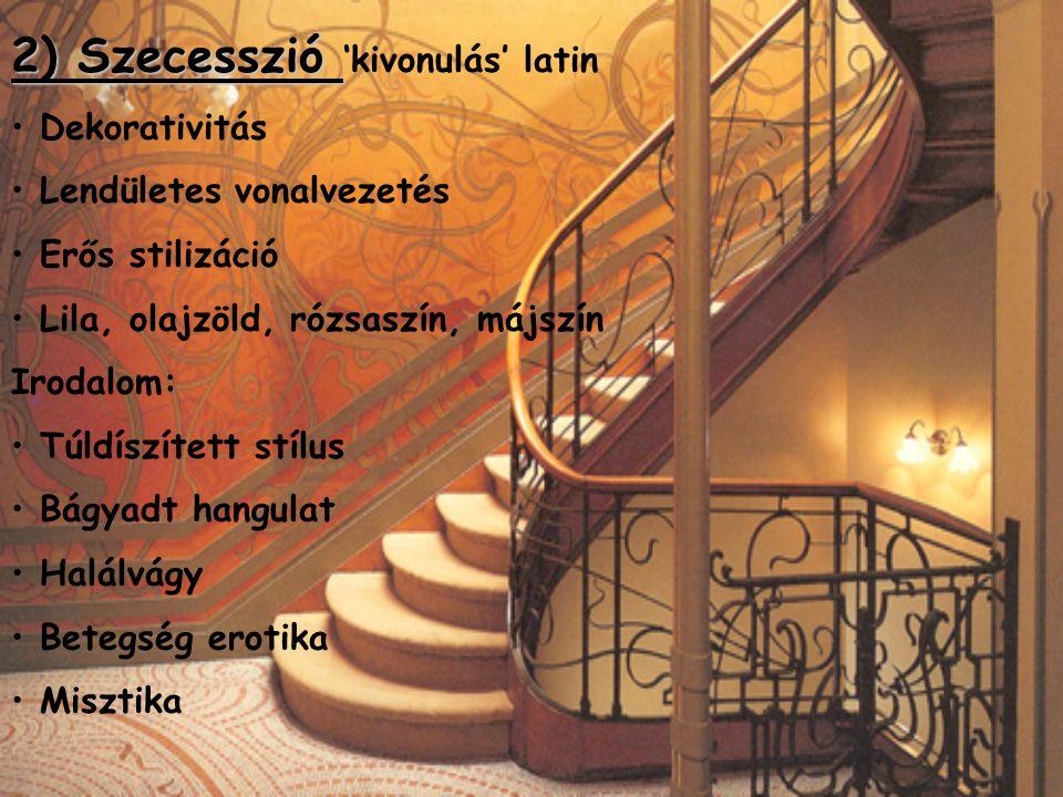 2) Szecesszió 'kivonulás' latin