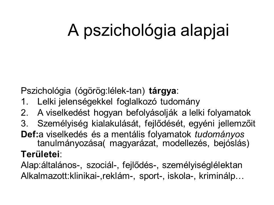 A pszichológia alapjai