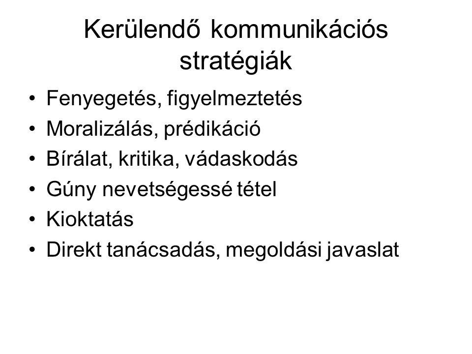 Kerülendő kommunikációs stratégiák