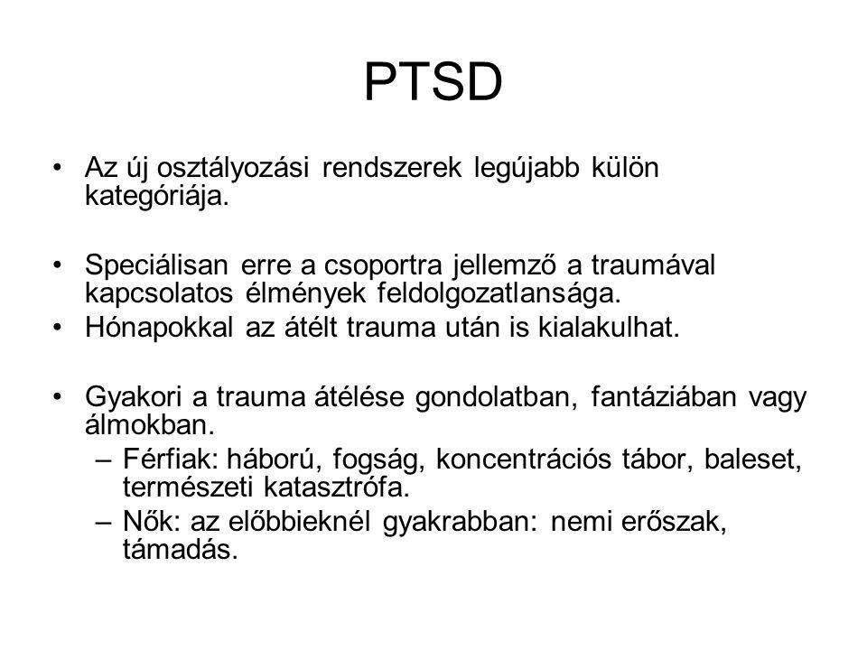 PTSD Az új osztályozási rendszerek legújabb külön kategóriája.