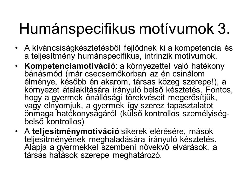 Humánspecifikus motívumok 3.