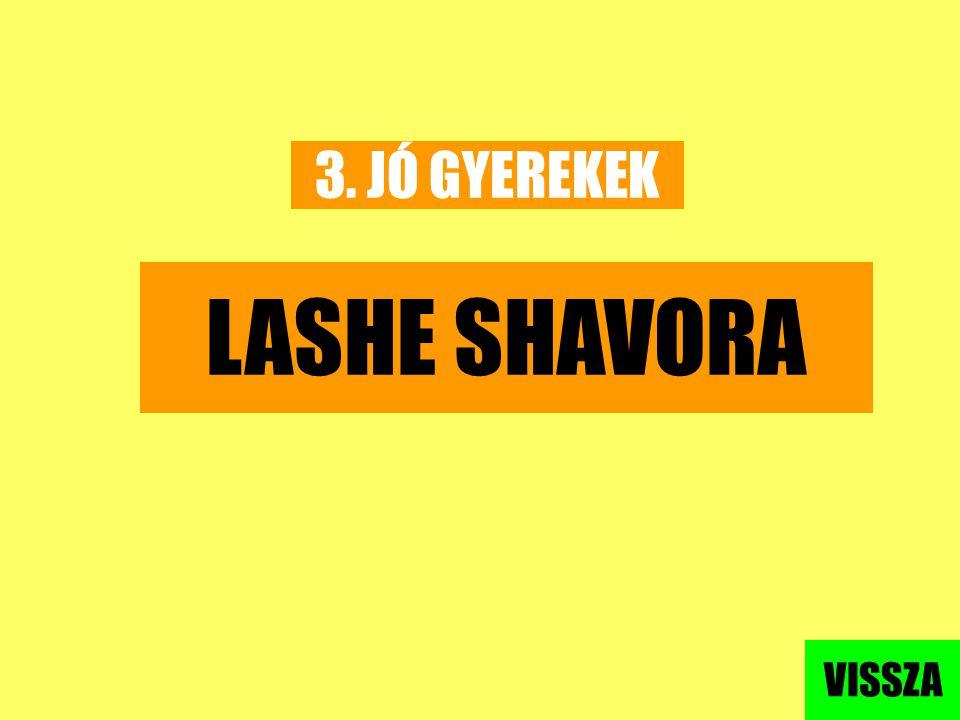 3. JÓ GYEREKEK LASHE SHAVORA VISSZA