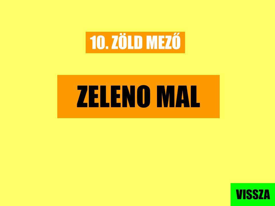10. ZÖLD MEZŐ ZELENO MAL VISSZA