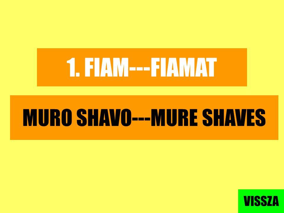 MURO SHAVO---MURE SHAVES