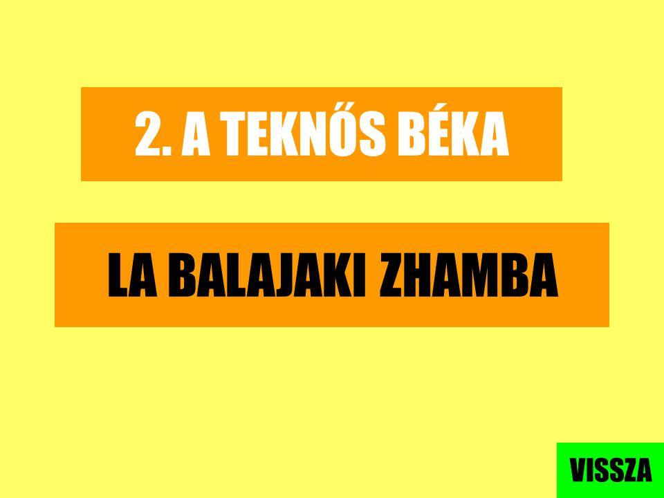 2. A TEKNŐS BÉKA LA BALAJAKI ZHAMBA VISSZA