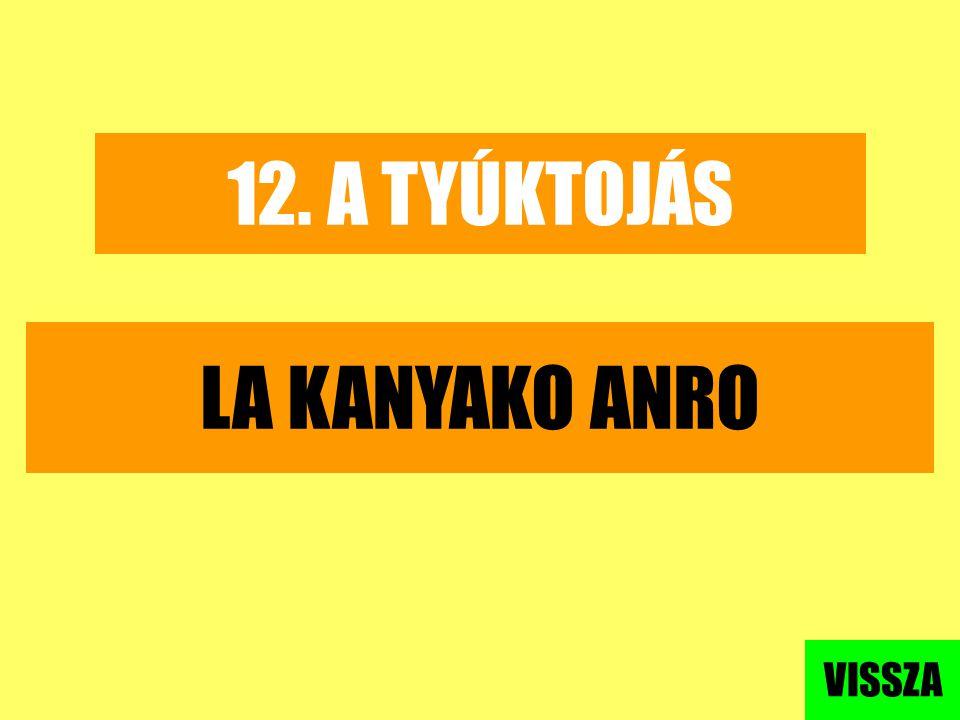 12. A TYÚKTOJÁS LA KANYAKO ANRO VISSZA