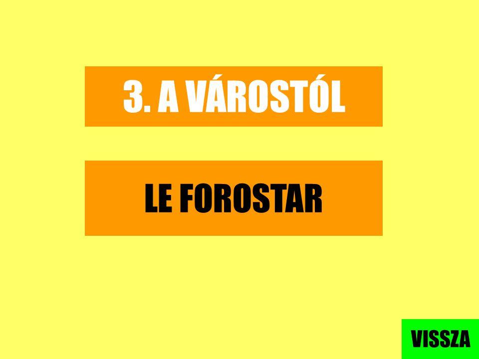 3. A VÁROSTÓL LE FOROSTAR VISSZA