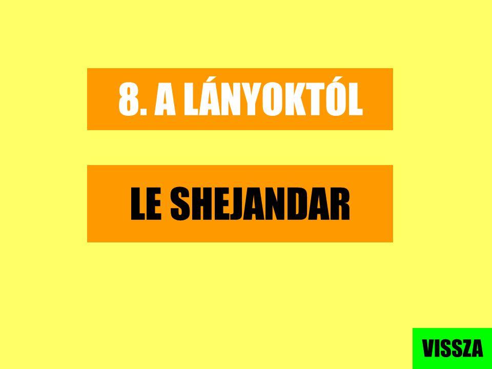 8. A LÁNYOKTÓL LE SHEJANDAR VISSZA