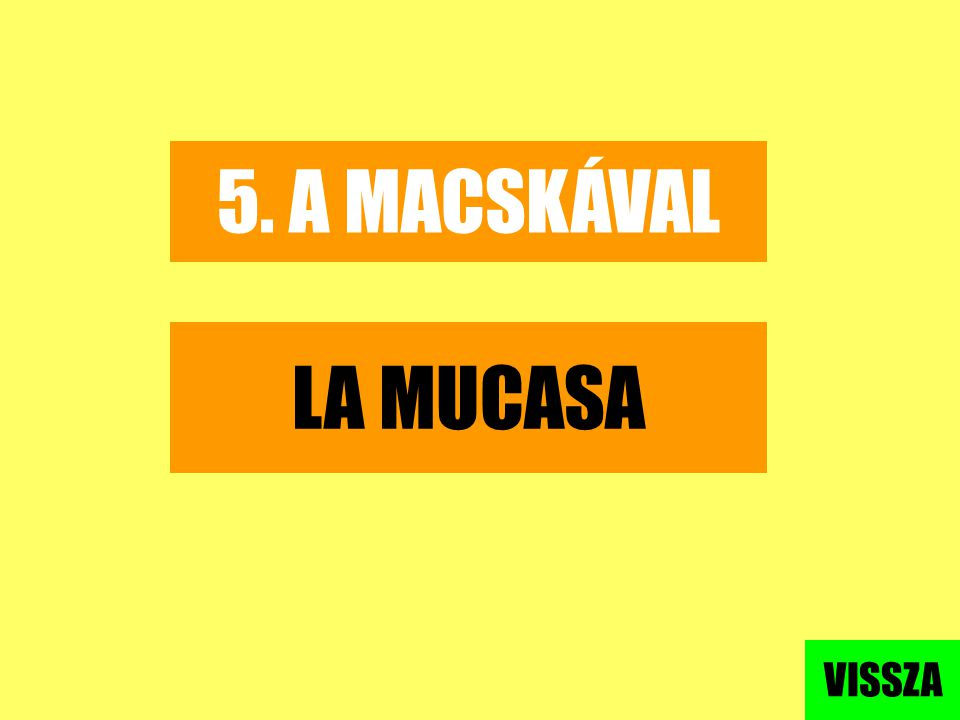5. A MACSKÁVAL LA MUCASA VISSZA