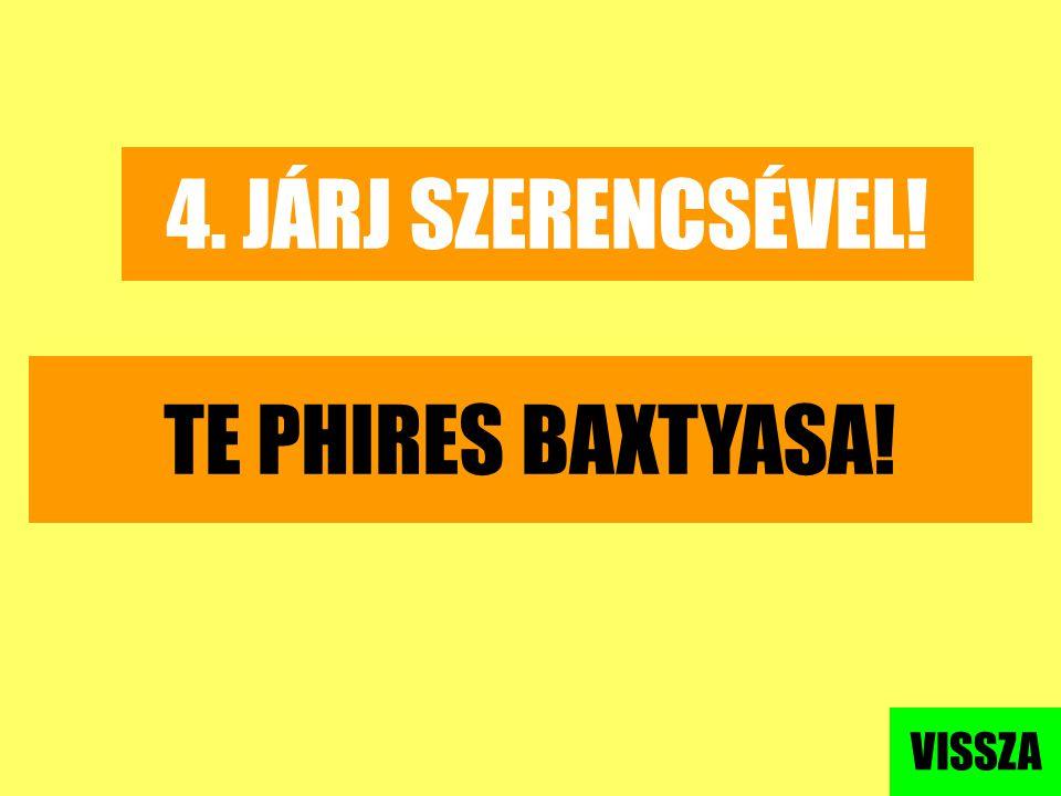 4. JÁRJ SZERENCSÉVEL! TE PHIRES BAXTYASA! VISSZA