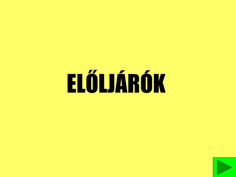 ELŐLJÁRÓK