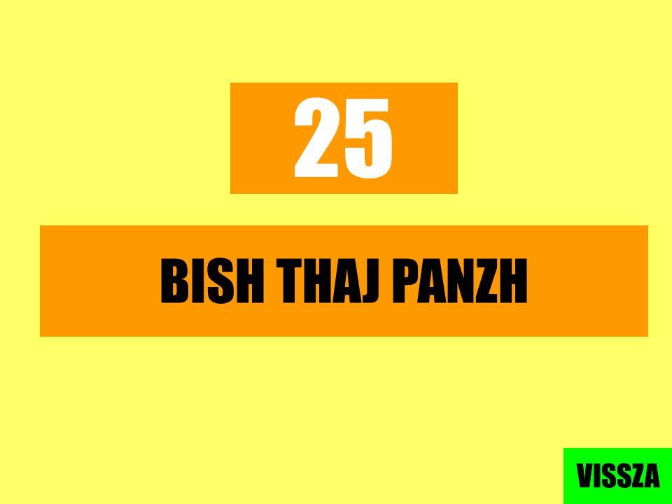 25 BISH THAJ PANZH VISSZA