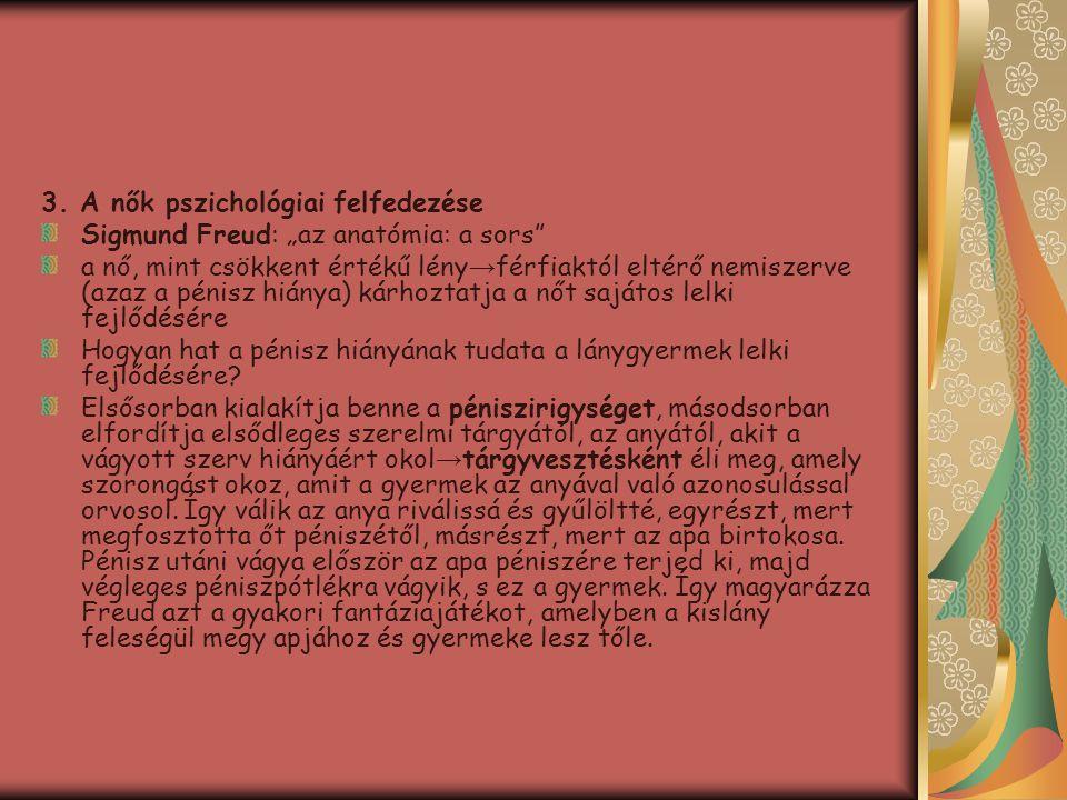 3. A nők pszichológiai felfedezése