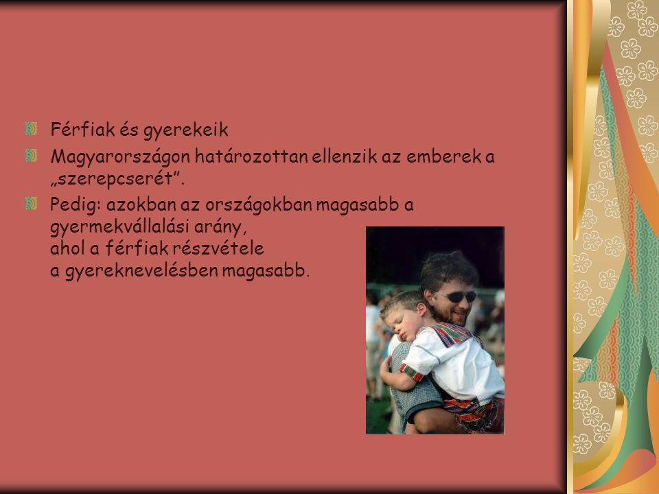 """Férfiak és gyerekeik Magyarországon határozottan ellenzik az emberek a """"szerepcserét ."""