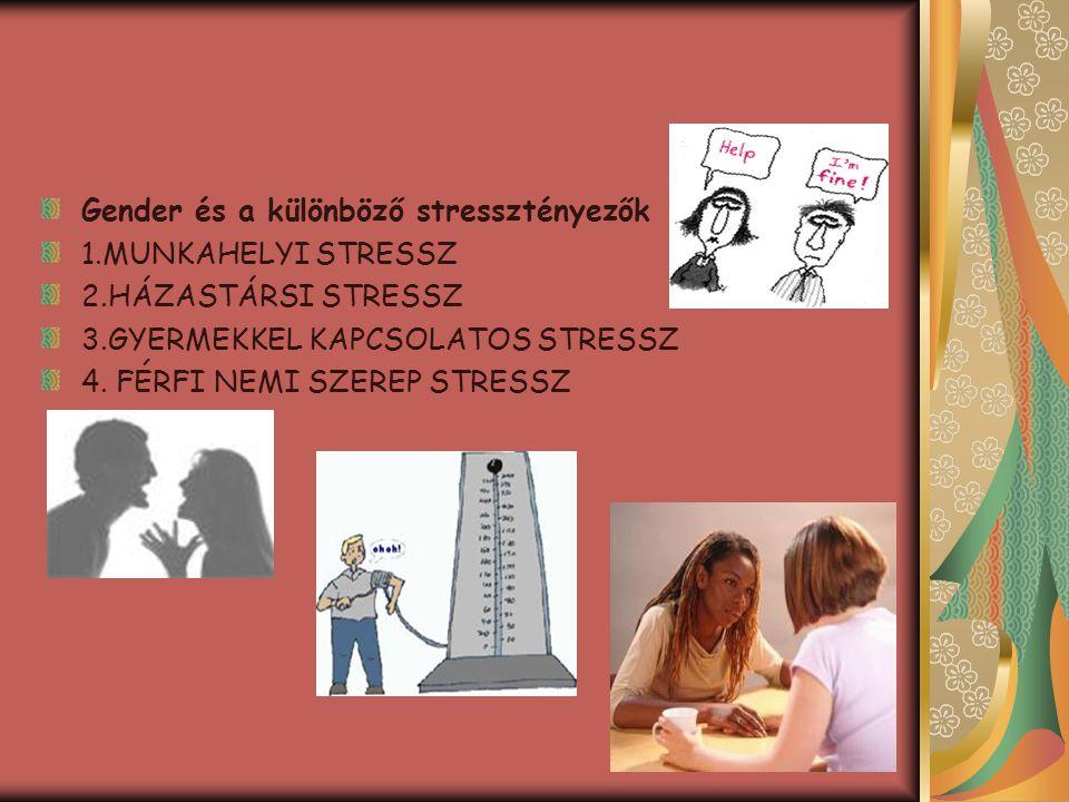 Gender és a különböző stressztényezők