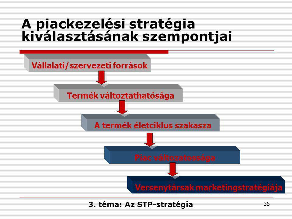A piackezelési stratégia kiválasztásának szempontjai