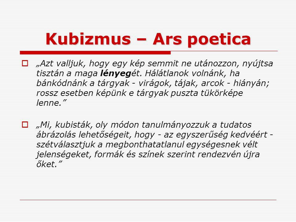 Kubizmus – Ars poetica