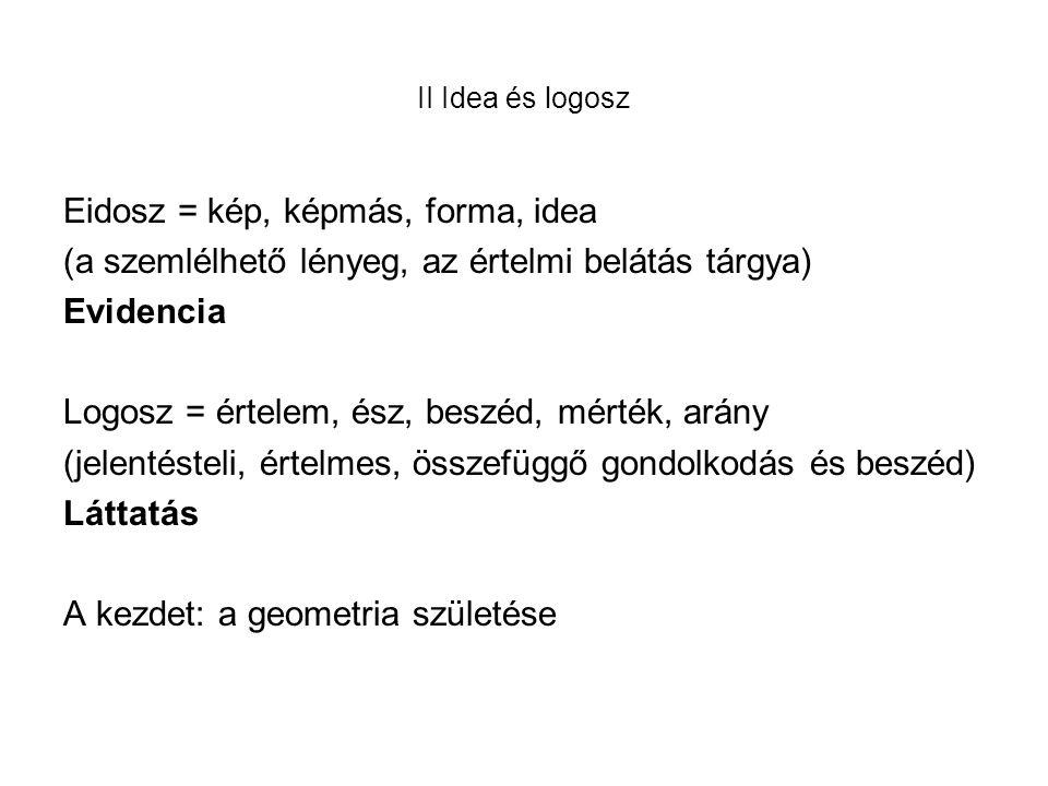 Eidosz = kép, képmás, forma, idea