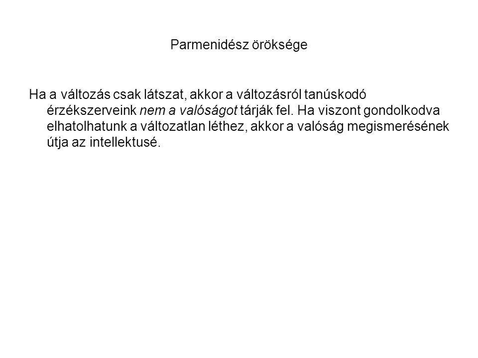 Parmenidész öröksége