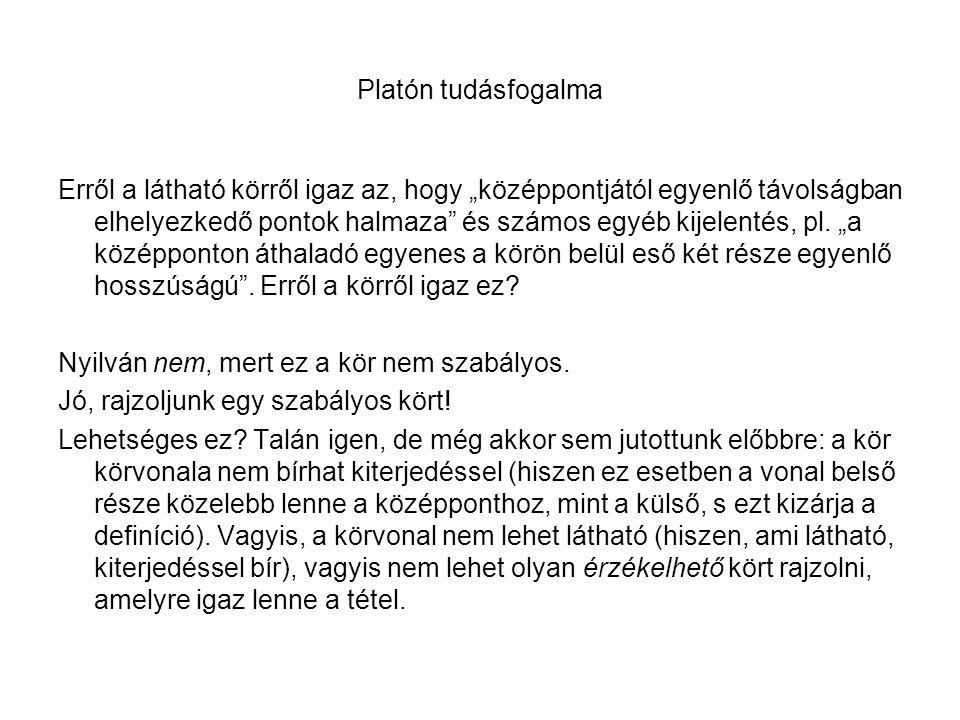 Platón tudásfogalma