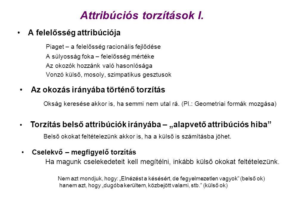 Attribúciós torzítások I.