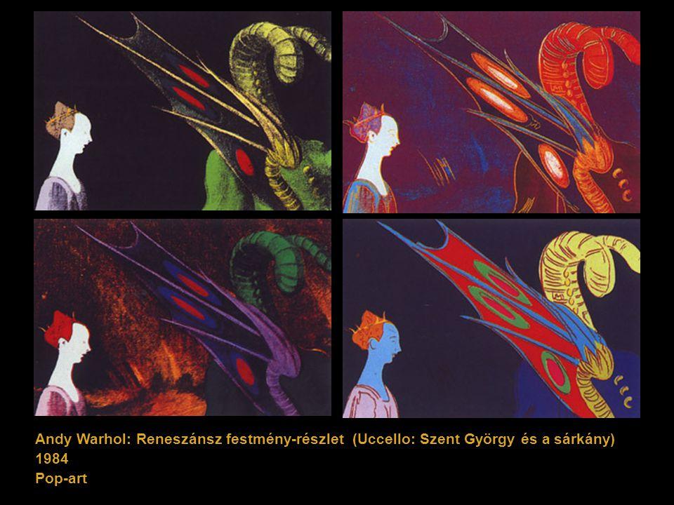 Andy Warhol: Reneszánsz festmény-részlet (Uccello: Szent György és a sárkány)