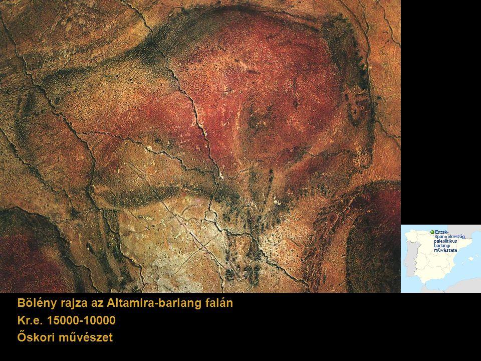 Bölény rajza az Altamira-barlang falán
