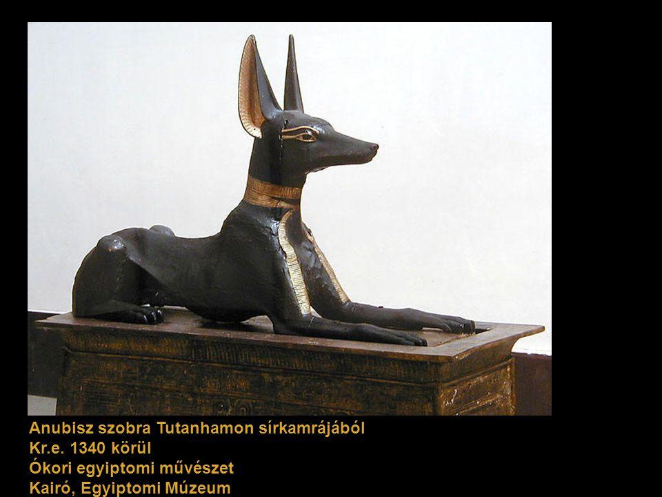 Anubisz szobra Tutanhamon sírkamrájából