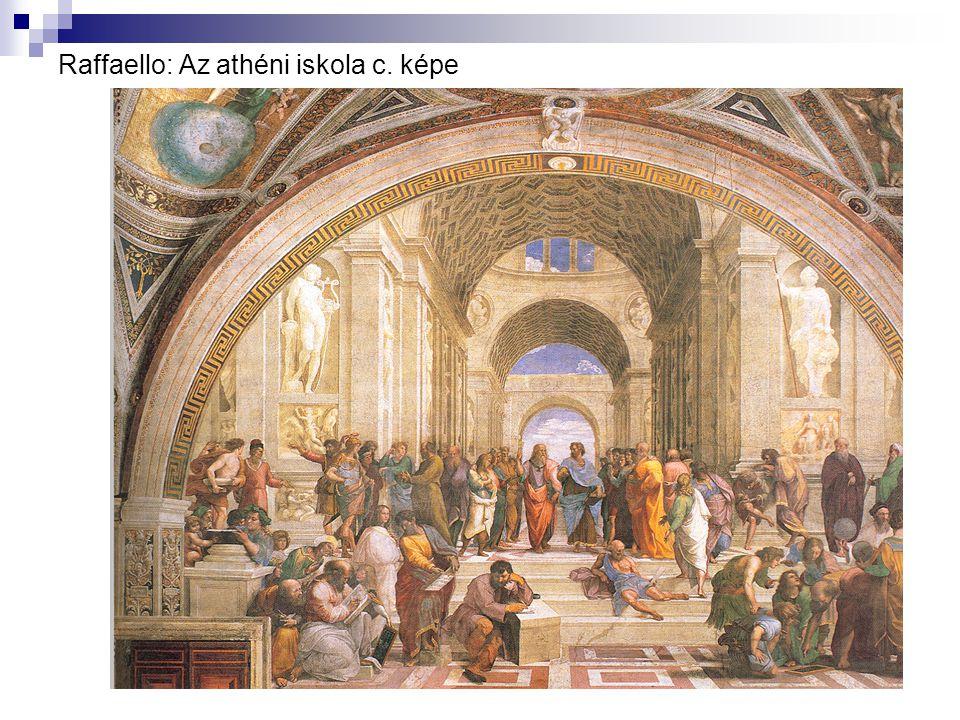 Raffaello: Az athéni iskola c. képe