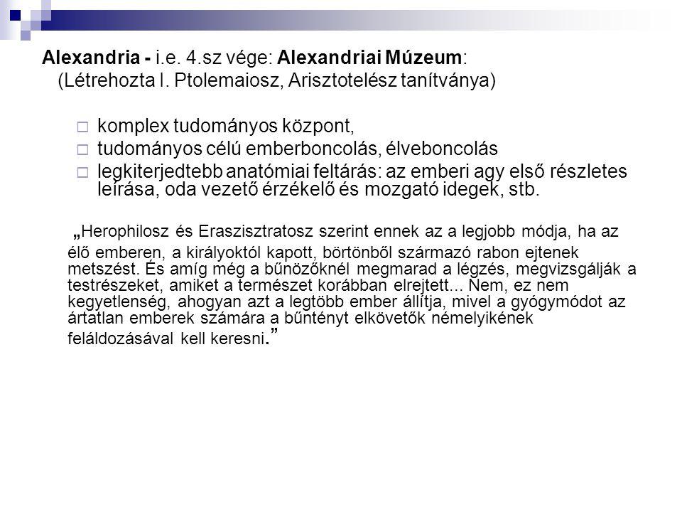 Alexandria - i.e. 4.sz vége: Alexandriai Múzeum: